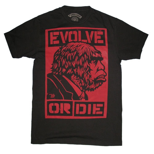 Evolve men's black t-shirt